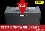 Vetta 2.5 gives you more Amps, Cabs, and Effects FREE!