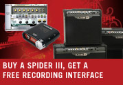 Buy a Spider III amp and get a free recording interface!