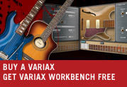 Buy a Variax® guitar and get Workbench™ FREE!