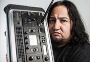 Fear Factorys Dino Cazares Gets Heavy Tone while Traveling Light with Line 6