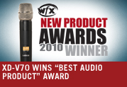 XD-V70 WINS BEST AUDIO PRODUCT AWARD
