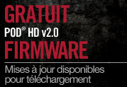Mise  jour gratuite 2.0 des processeurs multi-effets POD HD 