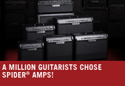 Its official. Over a million guitarists chose Spider amplifiers!
