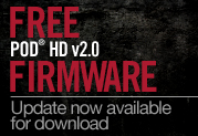 Free v2.0 Firmware Update For POD HD Multi-effects