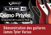 Demonstration privée James Tyler Variax