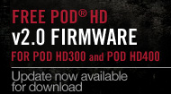 Free v2.0 Firmware Update for POD HD300 and POD HD400
